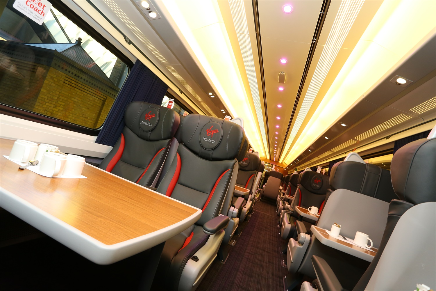 The New Look Trains Include Luxurious Leather Seats And Mood Lighting In  First Class And Red Cloth Seats In Standard, Providing A New Lease Of Life  To The ...
