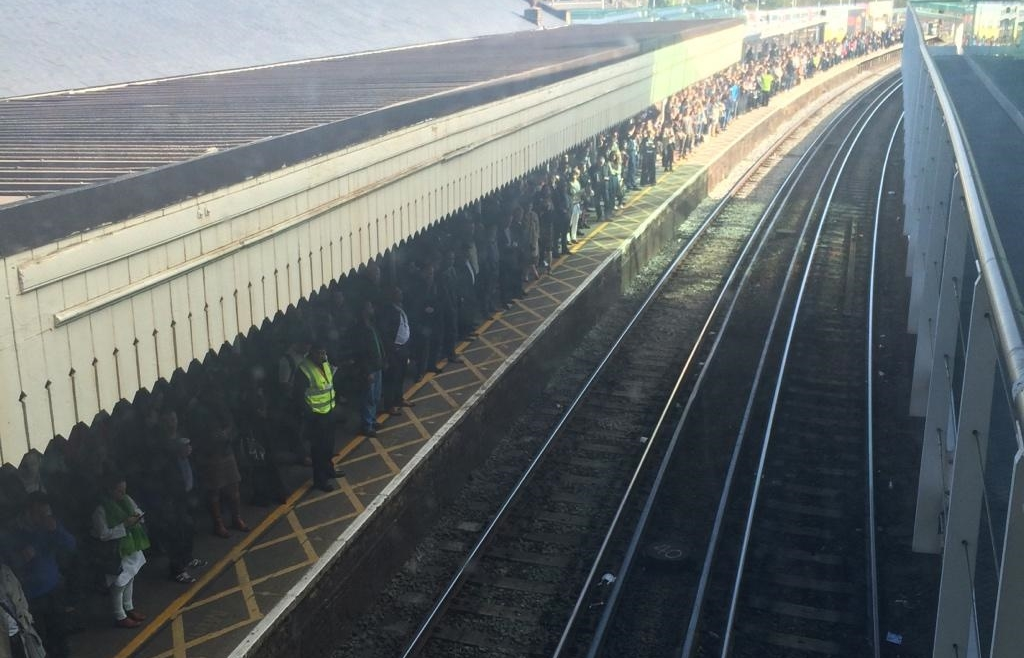 Passengers stranded on trains after Clapham Junction power failure