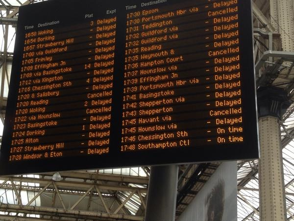 South West Trains suffers nightmare Monday