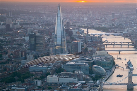 CGI, Panoramic of London - Thames and the new London Bridge. March 2014