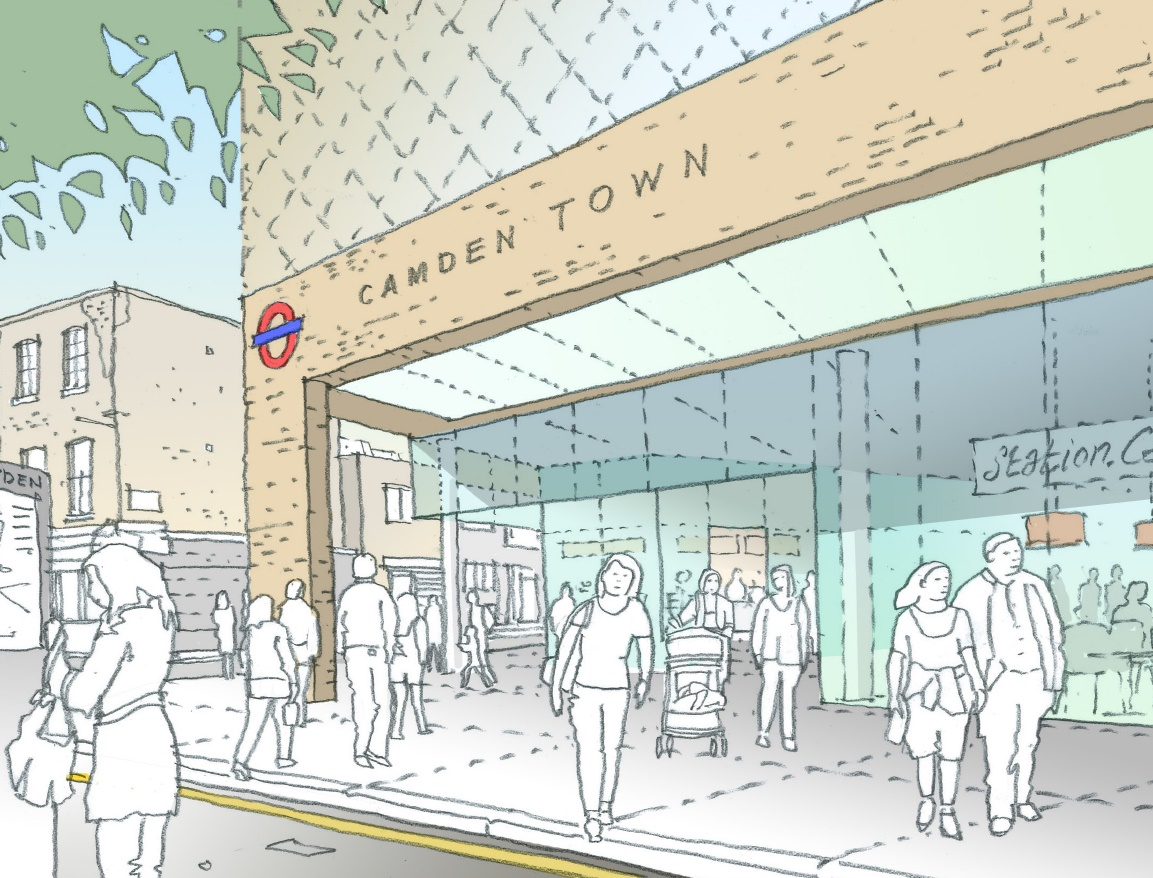 LU opens consultation on 'transformative' Camden Town station upgrades