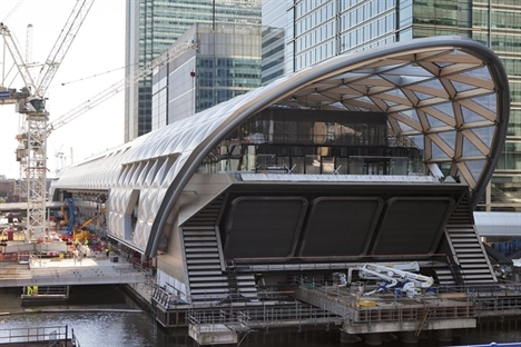 Structural stage of Canary Wharf Crossrail station complete
