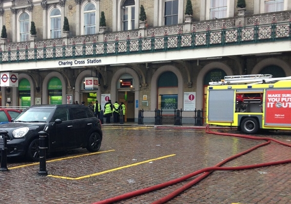 Charing Cross evacuated after fire on Southeastern train