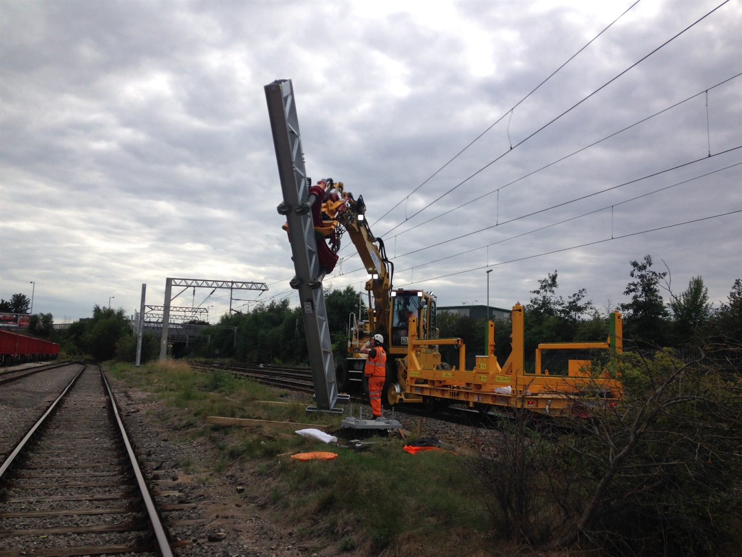 Chase Line electrification moves forward with steel structure installation