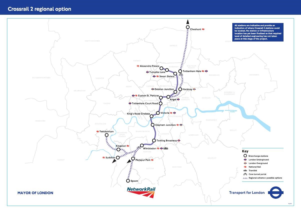 Council leaders call for 'eastern phase' to Crossrail 2 to promote growth