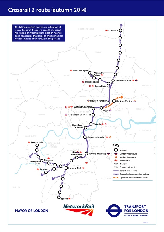 Crossrail 2 requests funding from TfL board