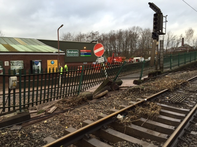 Parts of WCML reopened after track and signalling submerged in floodwater overnight