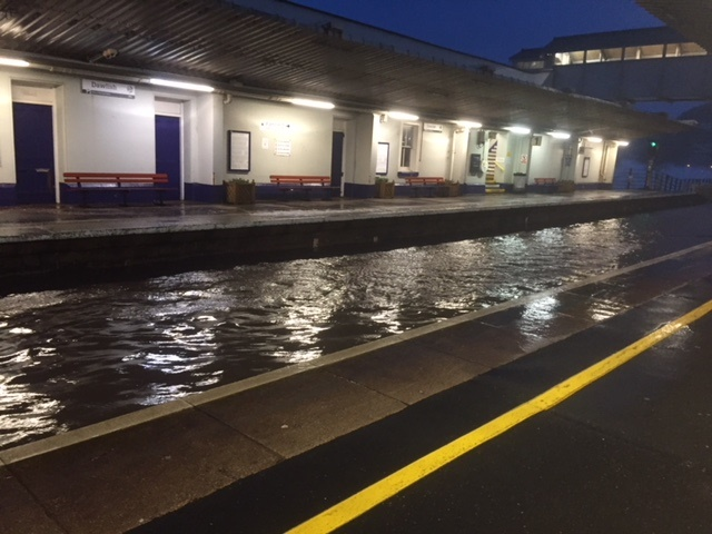 Services disrupted after Storm Emma damages Dawlish sea wall