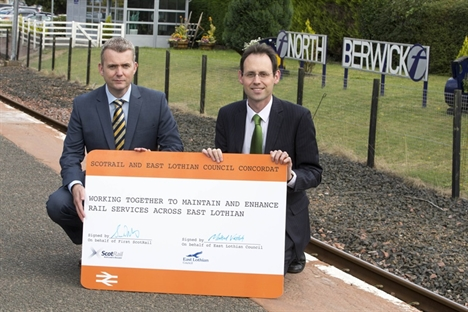ScotRail signs rail concordat with East Lothian Council