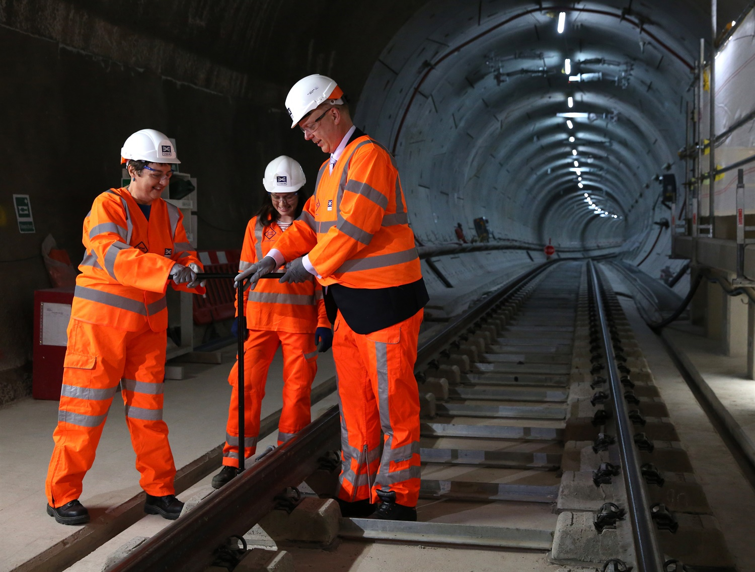 Elizabeth Line celebrates key milestone as track installation work completed