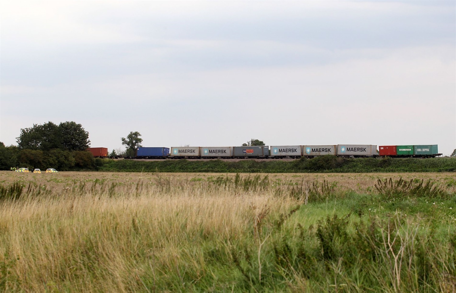 Freight train derails at Ely