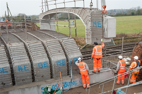 Engineers rebuild Templars Way bridge in Bedfordshire resize 635709140024250520