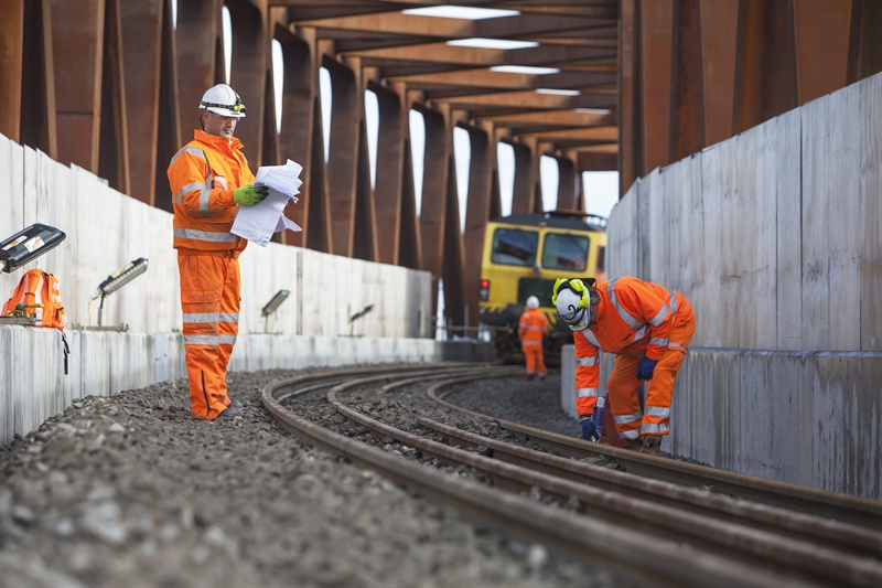 First section of Crossrail track laid as mammoth projects hits new phase