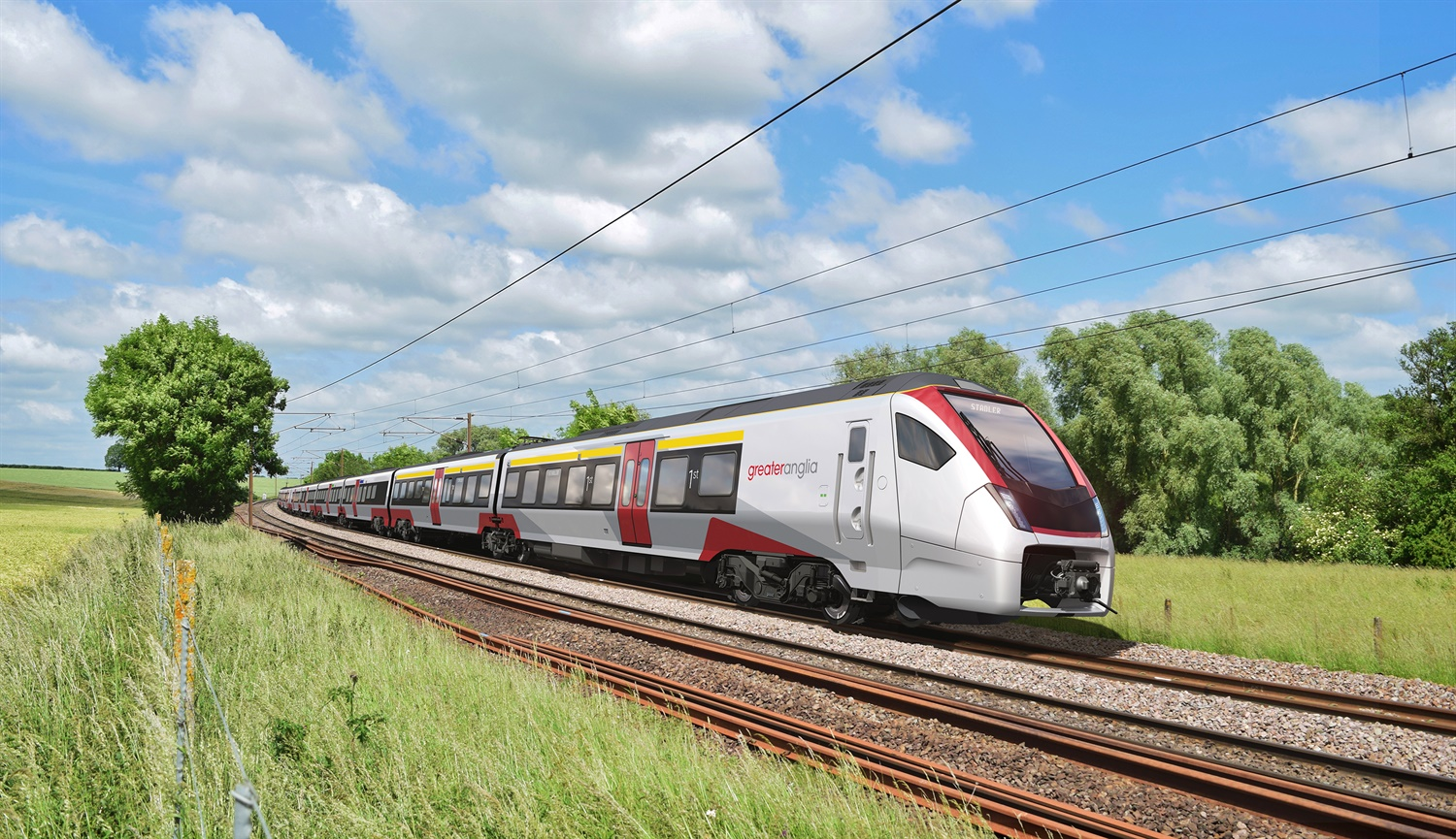 Greater Anglia unveils more images of bi-mode and intercity FLIRT trains