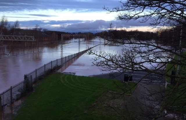 Flooded Carlisle-Scotland WCML services could reopen at midday