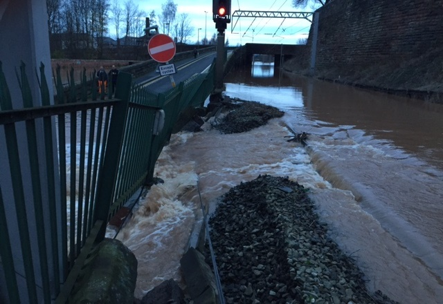 Flooding on the West Coast main line north of Carlisle - 2