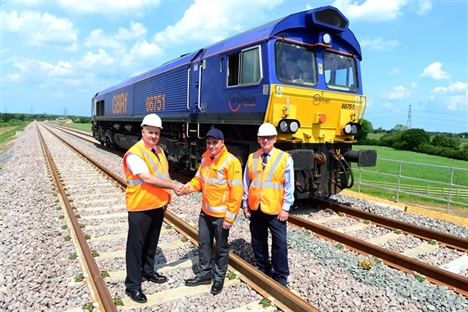 First train runs on new North Doncaster Chord