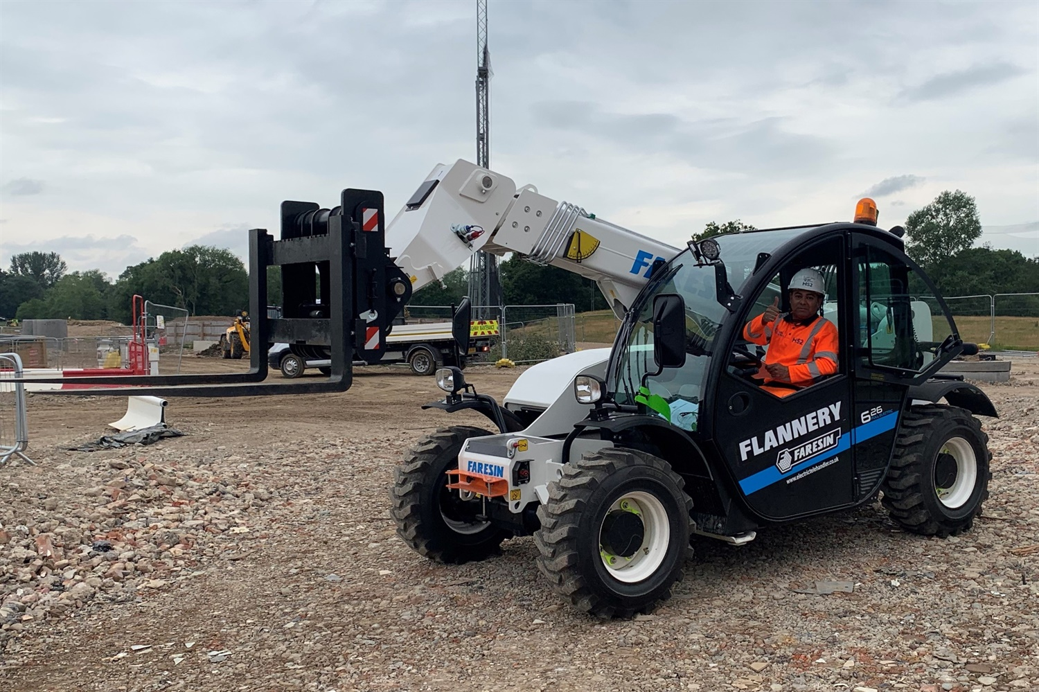 HS2 trials UK's first electric forklift
