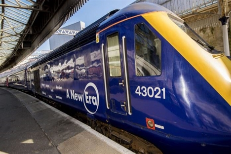 First of ScotRail's revamped HSTs arrives for driver training