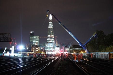 Impressive new photos of London Bridge works