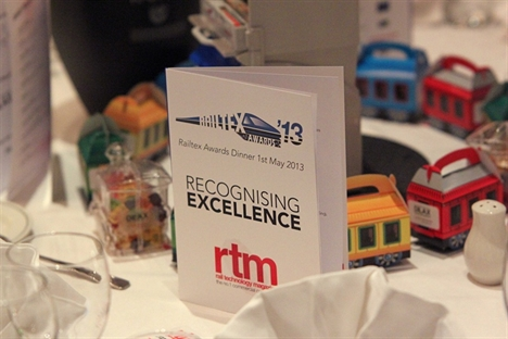Rail innovation the highlight at first Railtex Awards