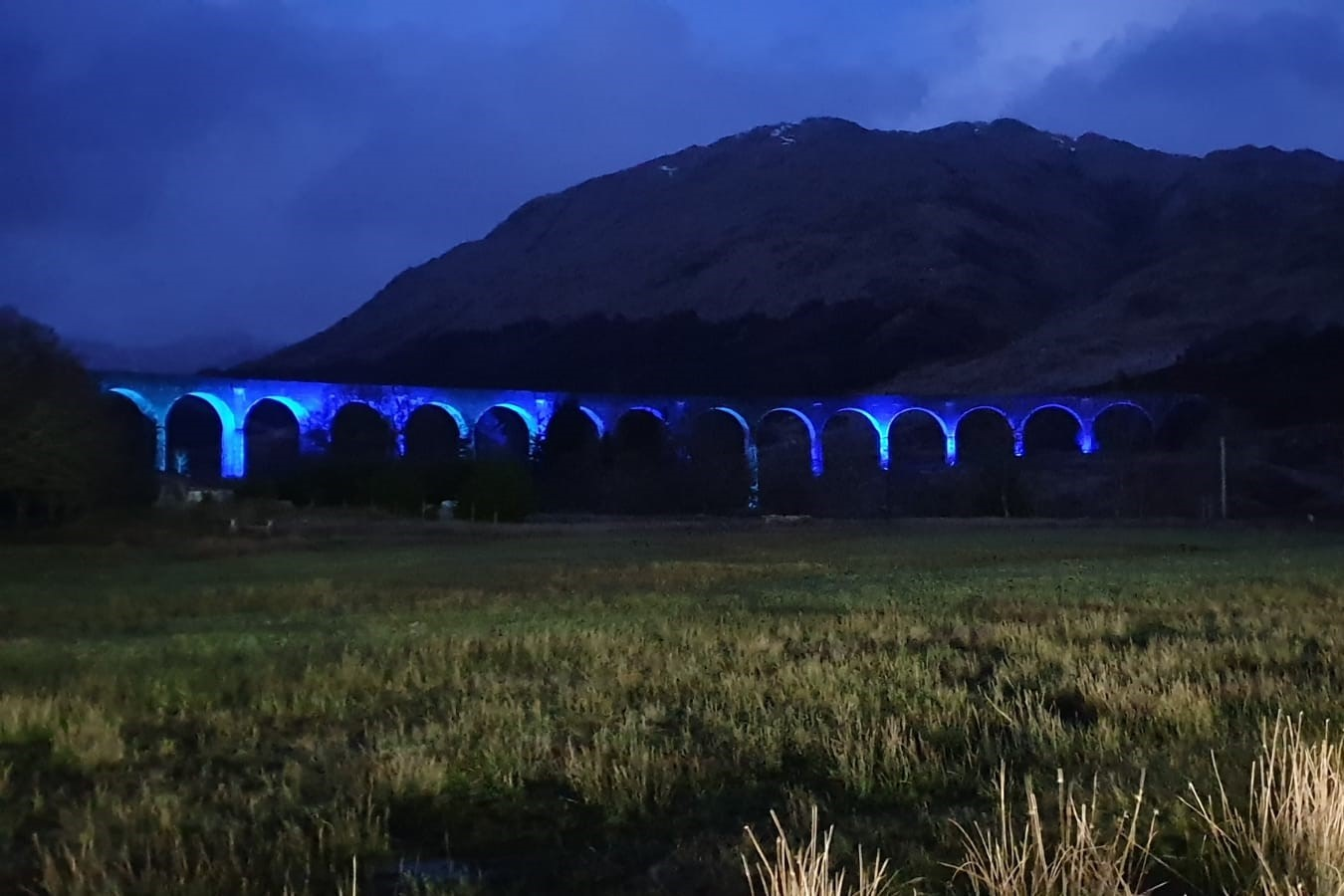Iconic Glenfinnan viaduct lit-up for our NHS heroes 2