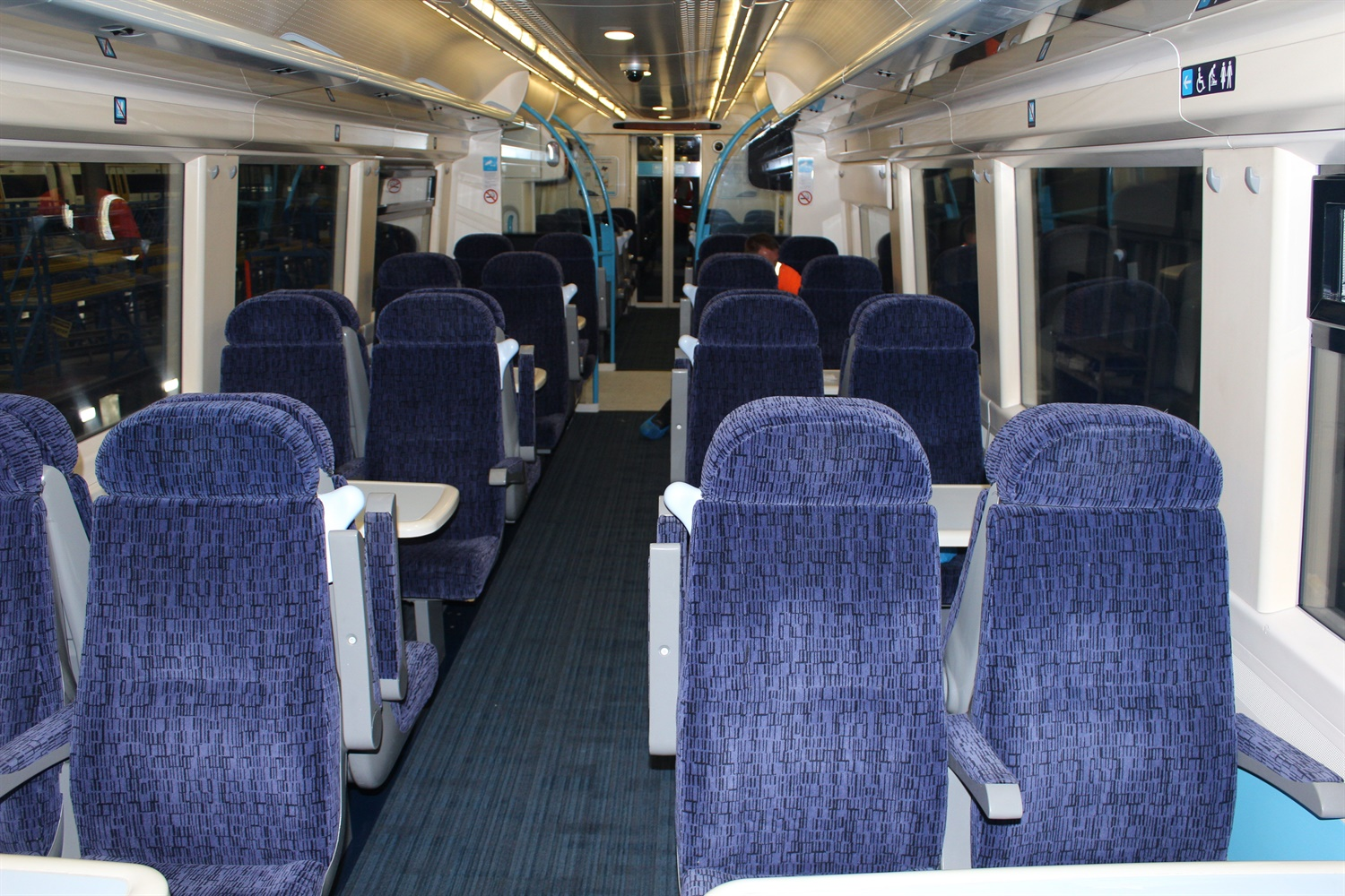 Interior of a refurbished Class 375 train