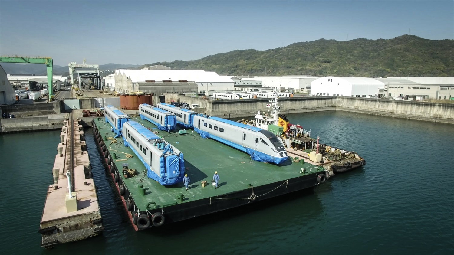 First TPE Hitachi test train leaves Japan en route to UK