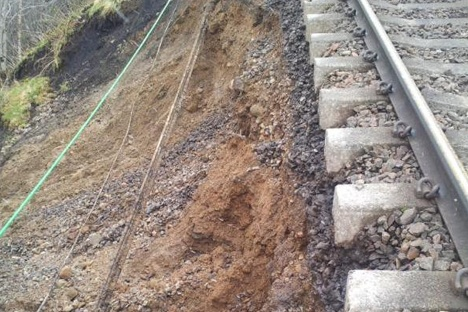 Track re-opens after landslide