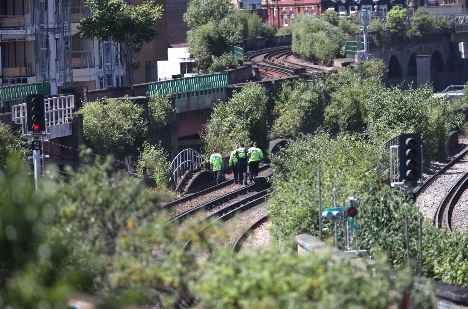 Three men killed by train in south London
