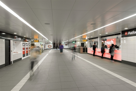 Glasgow subway interior