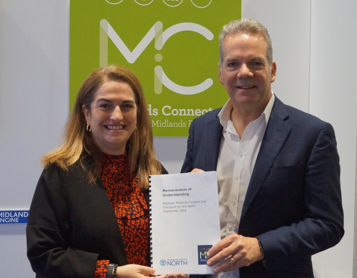 Transport for the North and Midlands Connect join forces in new MoU