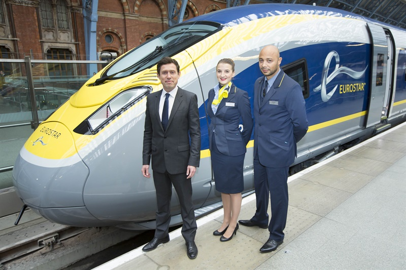 Eurostar unveils first new 200mph e320 train