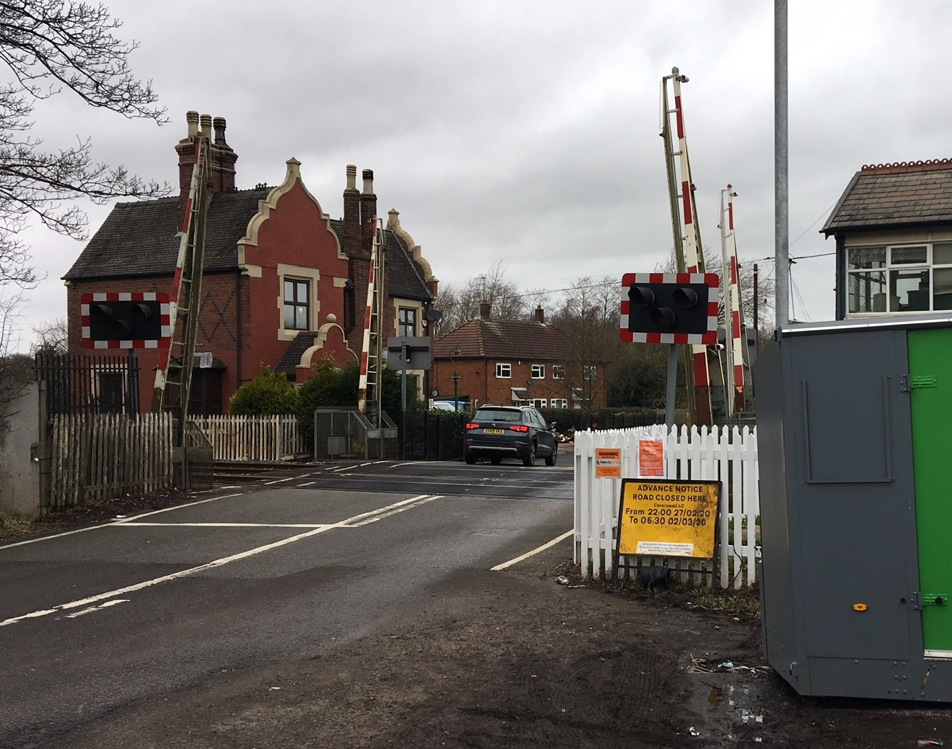 Improvement work begins across three level crossings in Staffordshire