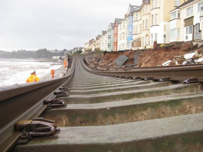 Engineers commence studies to safeguard Devon and Cornwall railway