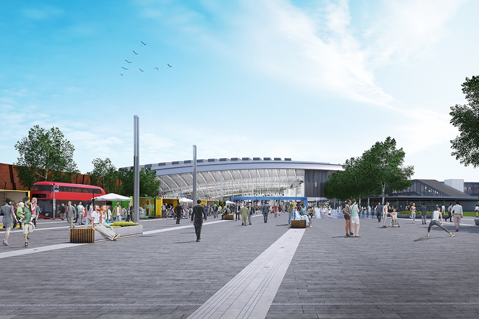 Old Oak Common to be UK's best-connected rail interchange as HS2 reveals new station designs