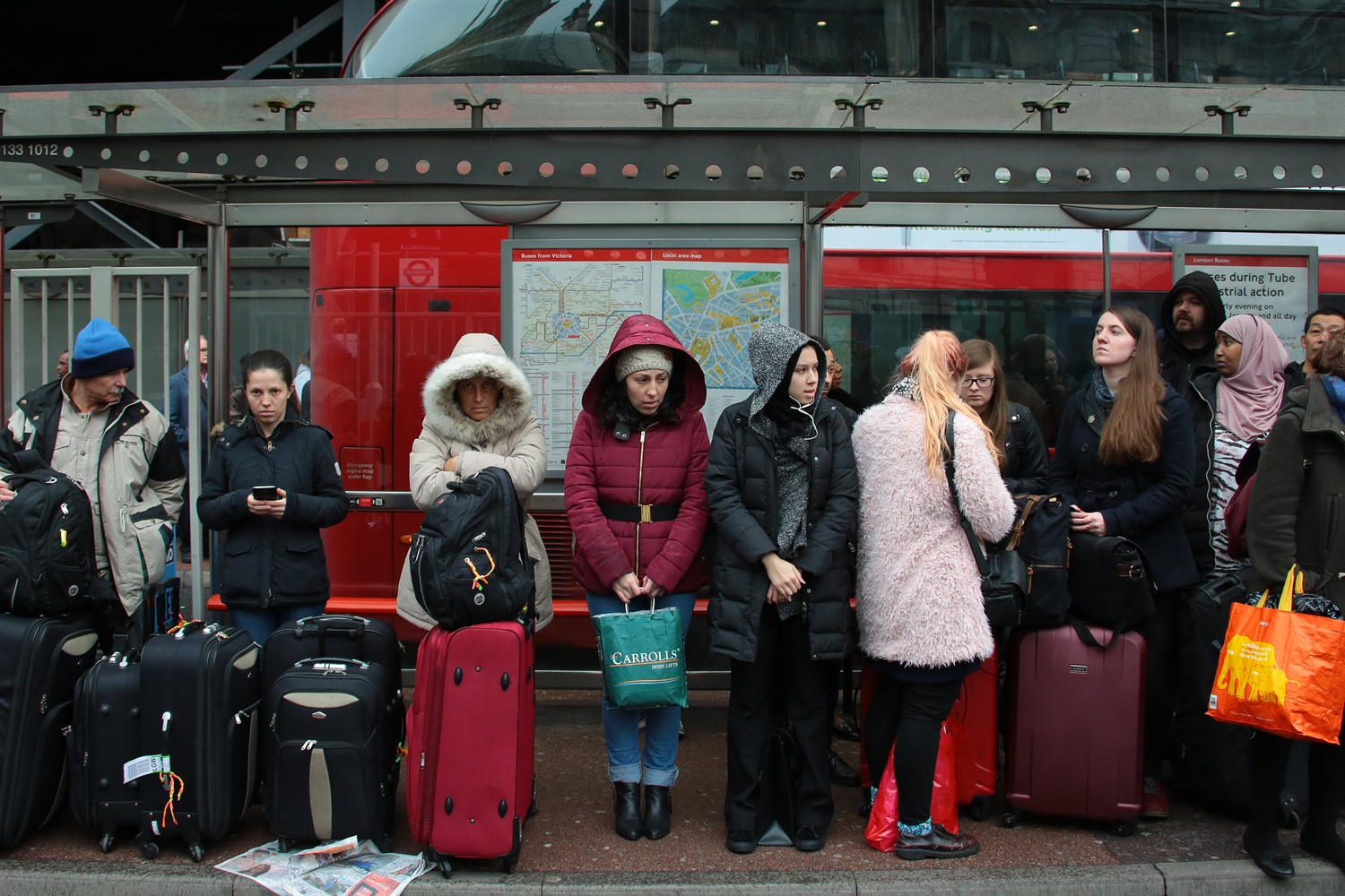 London travellers hit by crowding as Tube strike goes ahead