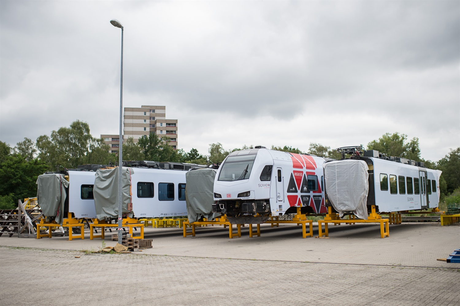 Greater Anglia's new trains rolled out for testing in Europe