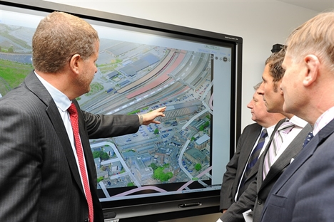 Phil Verster and Hugh Bayley MP open York Rail Operating Centre2