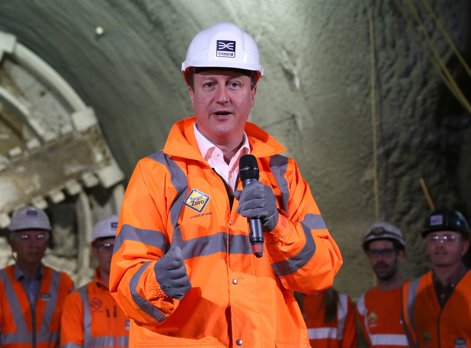 Prime Minister and Mayor of London celebrate completion of Crossrail s tunnelling marathon 200349