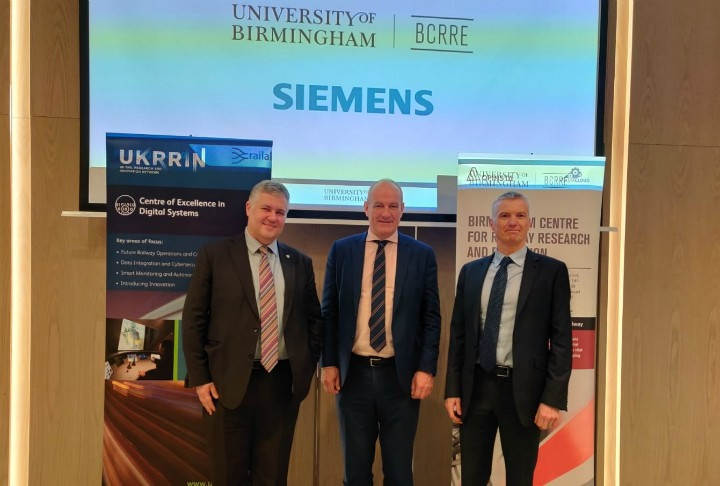 New research partnership announced between University of Birmingham and Siemens Mobility Ltd