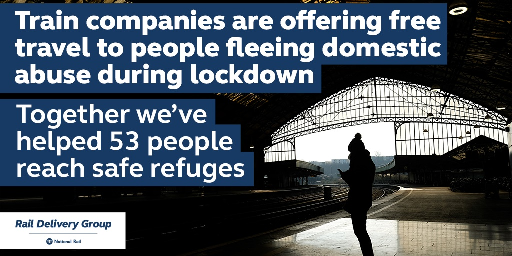 'Rail to Refuge' scheme continues to provide support during lockdown