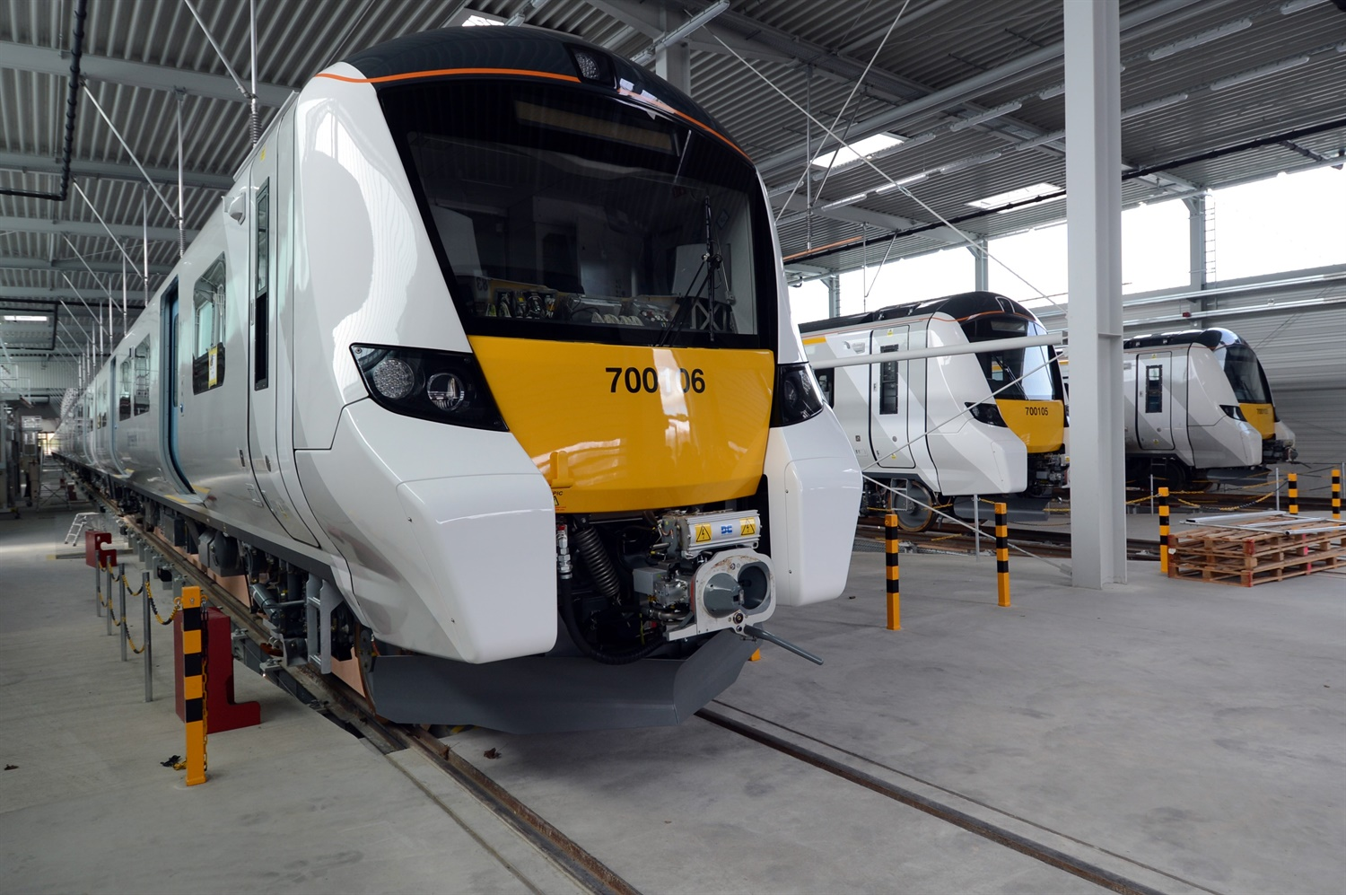 New photos of Thameslink Class 700 trains – construction 'on track'