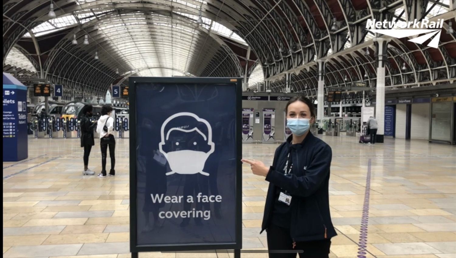 Rail passengers reminded of compulsory face coverings from today