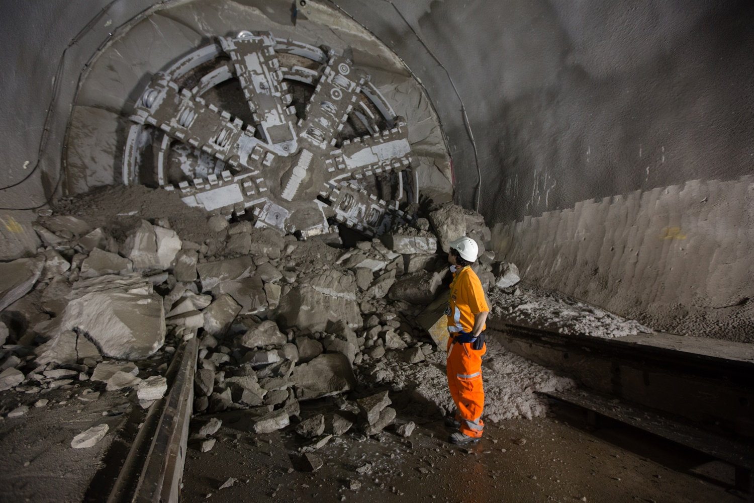Tunnelling machine Victoria breaks into Liverpool Street