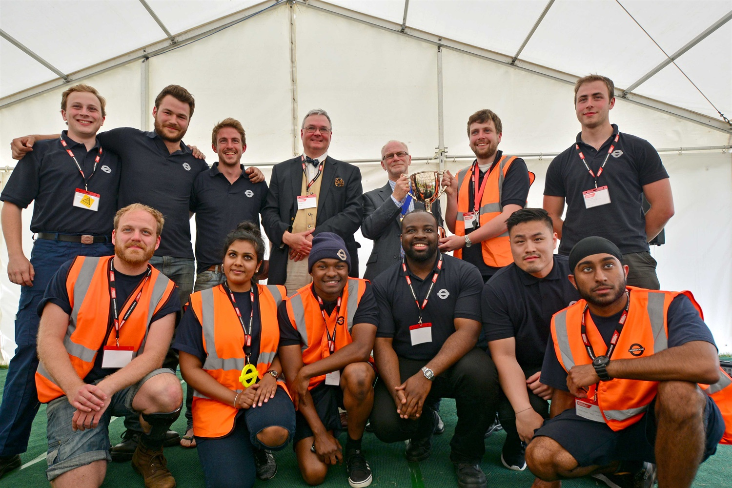 TFL team with Bill Reeve and IMechE President courtesy of David Shirres