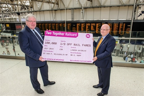 Two Together Railcard sales hit 100,000