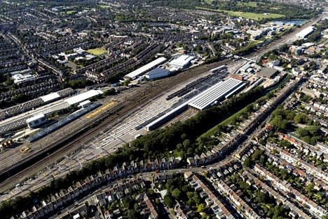 Thameslink Hornsey Depot - aerial October 2016 (2) edit