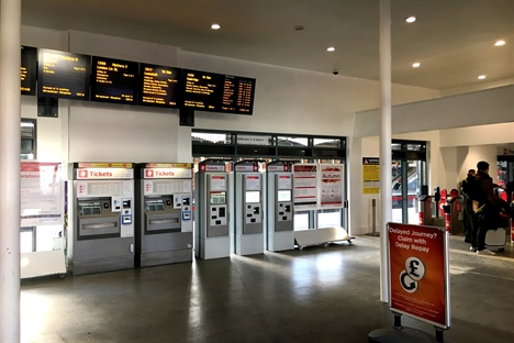 Ticket machines in booking hall edit