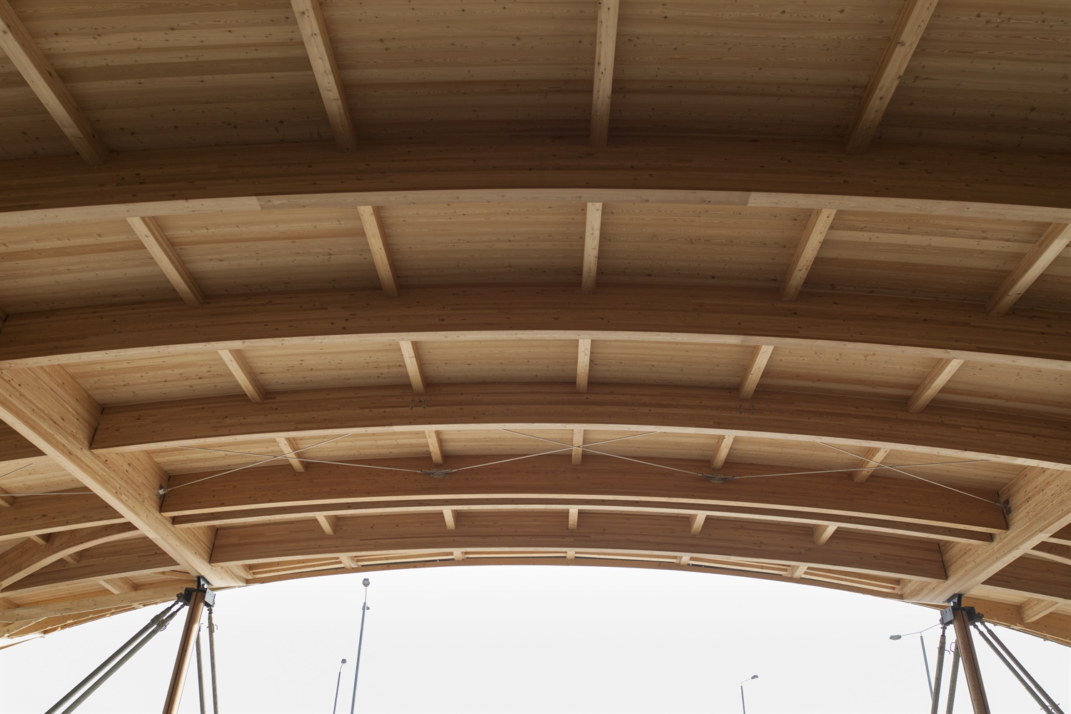 Timber structure of the roof for Elizabeth line Abbey Wood station 250712